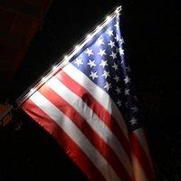 Homebrite Solar Night Flag with Pole
