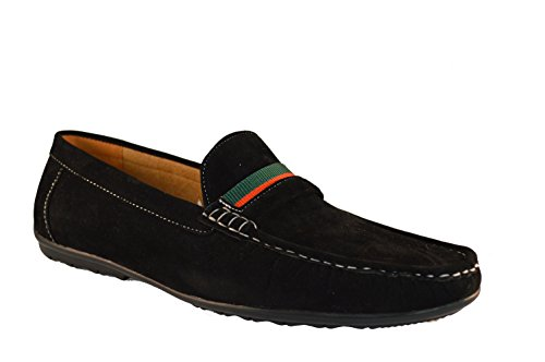 New BLACK FAUX SUEDE Men Slip On Synthetic Comfortable Loafer Shoes UK Sizes 6 7 8 9 10 11