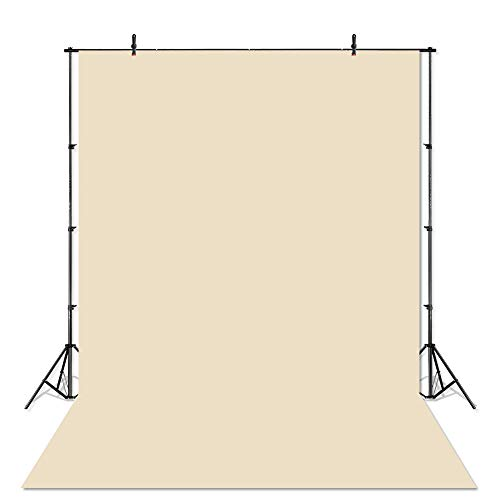 COMOPHOTO Cream Yellow Backdrops for Photography 5x7ft Newborns Solid Seamless Polyester Cotton Photography Background for Photo Booth Props