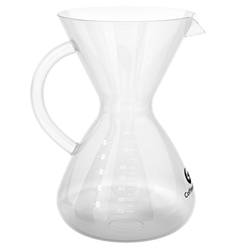 Coffee Gator Pour Over Coffee Brewer Replacement Carafe - Borosilicate Glass - 27floz / 800ml