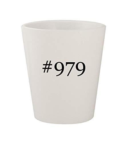#979 - Ceramic White Hashtag 1.5oz Shot Glass