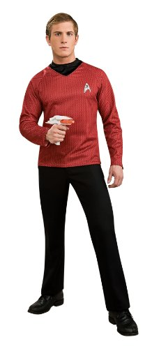 Rubie's Star Trek Into Darkness Deluxe Scotty Shirt With Emblem, Red, Small Costume ()
