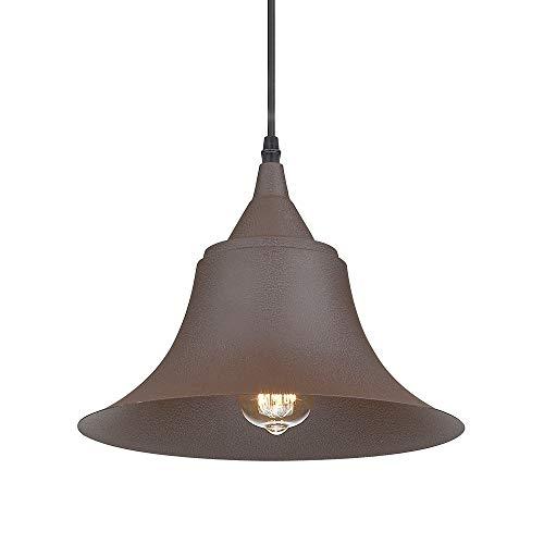 Emliviar Indoor Outdoor Metal Industrial Pendant Light, 1 Light Rustic Vintage Farmhouse Barn Light Hanging Light, 50006-MP