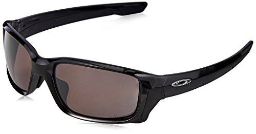 Oakley Men's OO9336 Straightlink Asian Fit Rectangular Sunglasses, Polished Black/Prizm Daily Polarized, 61 ()