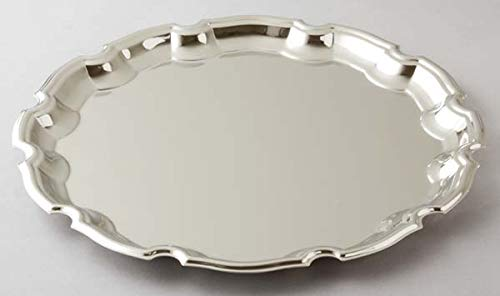 Elegance Silver Round Chippendale Tray 12