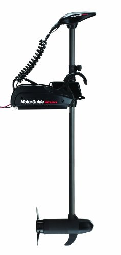 MotorGuide 12-Volt Wireless Freshwater Trolling Motor with Foot Pedal, 45-Pound Thrust, 48-Inch Shaft (Foot Controlled Trolling Motor)