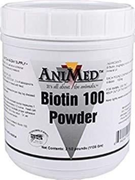 (AniMed BIOTIN 100 2.5# 100MG/# (2 Pack) )