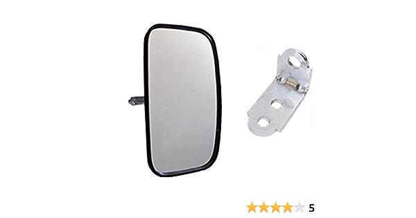 Juego de 2 espejos retrovisores laterales /ø15-28 excavadora con brazo de espejo 280 x 155 mm