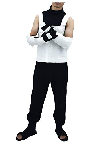 DAZCOS US Size Adult Hatake Kakashi Anbu Vest Cosplay Costume (Men Small) White