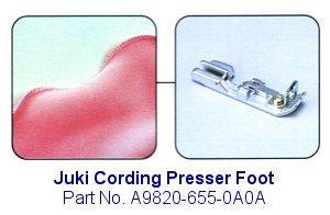 Juki Cording Serger Foot - A9820-655-0A0A