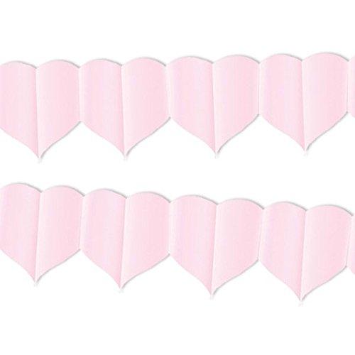 Givi Italia 54545festone cuori rosa MT.4, multicolore