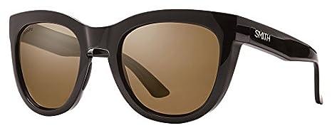 Smith Sidney Sonnenbrille Damen Red Yellow Tortoise/Brown Gradient, Damen, Sidney, Shiny Black/Chroma Pop Brown Polar