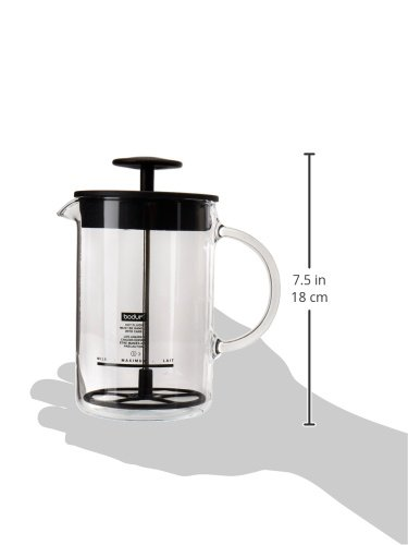 Bodum-1446-01US4-Latteo-Milk-Frother-with-Glass-Handle-8-Ounce