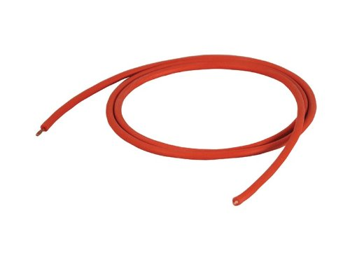 Cal Test Electronics CT2844 Test Lead Wire, 13 AWG, 36 Amp, Silicone Jacket, 2.50 sq mm, 10m Length, Red