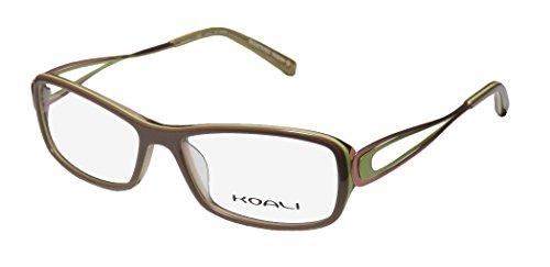 [Koali 7255k Womens/Ladies Rx-able Demo Lens Designer Full-rim Eyeglasses/Eyewear (53-15-135, Light Brown / Taupe /] (Makers Mark Costume)