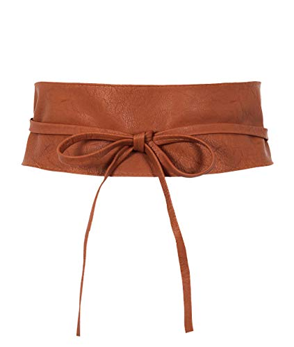 14987-TAN-OS: KRISP One Size PU Waist Belt, Tan, One Size