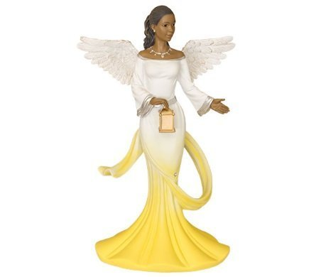 - Sash Angel in Yellow African American Angel Statue