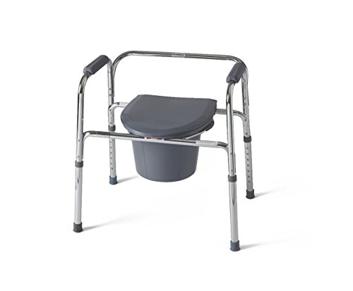 Easy Care Commode, Chrome Steel, Backrest, 350 - Sunrise Medical