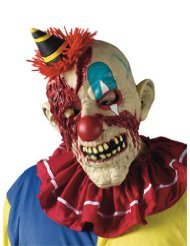Unique Clown Costumes (Scary-Masks Fearsome Faces Mask Clown Halloween Costume - Most Adults)
