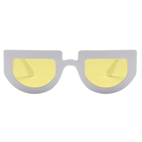 Polarisées De jaune Femmes Rétro Extérieures Fenteer Lunettes Lunettes blanc Soleil wqIwO6