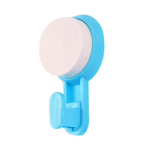 chic uxcell Household Bathroom Removable Suction Cup Hook Clothes Coat Towel Hanger Blue