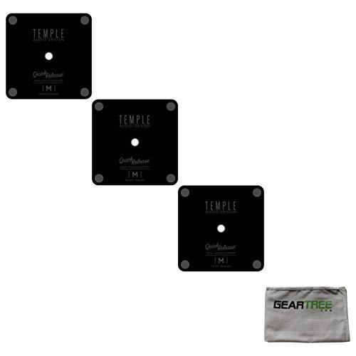 3 Temple Audio Quick Release Pedal Plates with Screws - Medium