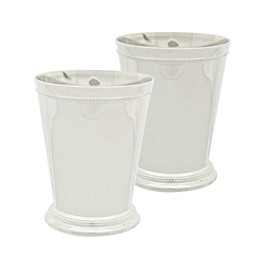 10 Strawberry Street - Mint Julep 16 Oz Cup, Set of 2, Nickel - Cup & Saucer Set Mint