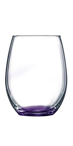 ARC Purple Bottom Stemless Wine Glass - Additional Colors...