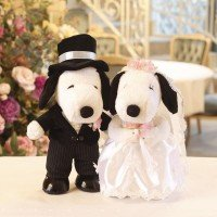 Snoopy character welcome doll Snoopy Wedding Western-style L