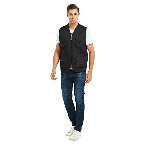 TOPTIE Adult Supermarket Volunteer Activity Vest Multi-Pocket Waistcoat