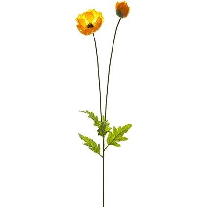 Amazon 31 Poppy Silk Flower Stem Orange Pack Of 12 Home