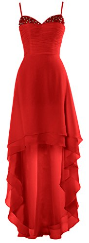 Dress Party Gown Red Prom Cocktail Formal Homecoming High MACloth Low Beaded xfqAnIw4Y