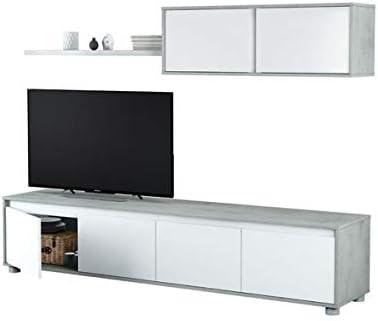 PEGANE - Mueble para televisor (melamina, 43 x 200 x 41 cm), Color ...