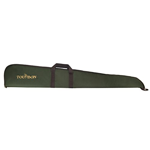 n Shotgun Case Gun Bag With Adjustable Shoulder Strap (Green with Brown Trim , 50 Inch) (Shotgun Shoulder Strap)
