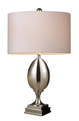Dimond D1426W Waverly Table Lamp, Chrome Plated Glass With White Shade