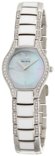 Citizen Eco-Drive Women's EW9870-72D Normandie White Resin Watch and Bracelet Set ()