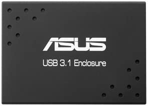 ASUS USB 3.1 Enclosure SSD Enclosure Negro - Disco Duro en Red (Micro Serial ATA, 512 GB, 3.1 (3.1 Gen 2), USB Tipo C, SSD Enclosure, Negro)