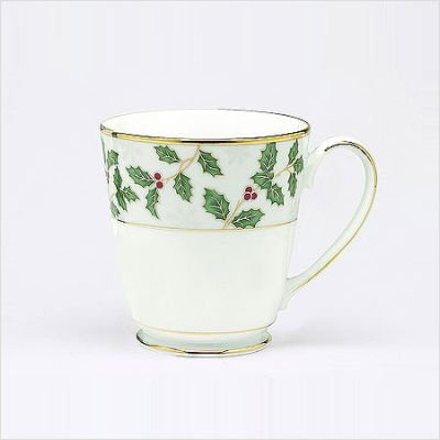 Noritake Holly and Berry Gold Mugs, Set of 4 ()