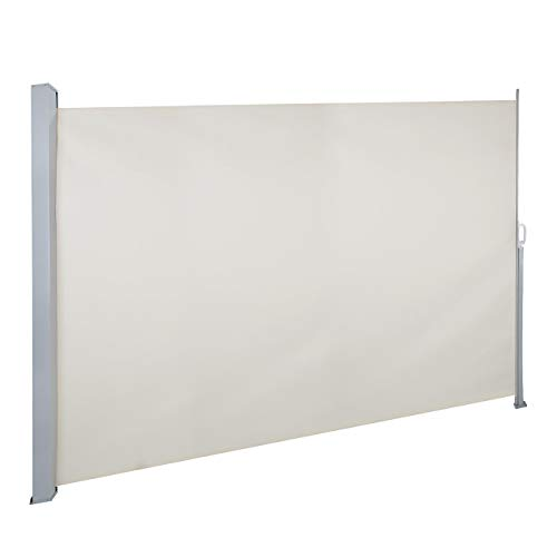 Dyna-Living Retractable Side Awning Patio Waterproof Sun Shade Screen Divider w/Handle 118.1R ...