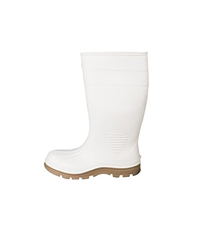 (UltraSource 444006-10 PVC Economy Boots, Steel Toe, White, Size 10)