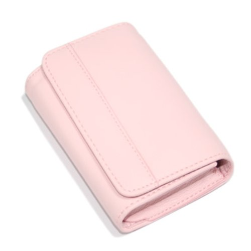 HDE Leather Business Card Holder, Case Holds 50 Business Cards, with Magnetic Closure - Pink