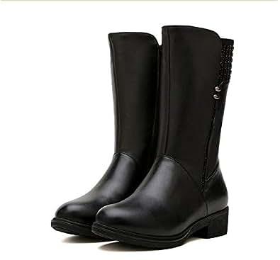 Amazon.com | DDL- Snow Boots Brand Boots Wool Warm Genuine