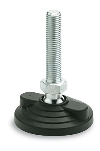 AISI 304 Stainless Steel M16 Threaded Stem Technopolymer Base Max Static Load Elesa 333561 Ground Mounted Leveling Element Pack of 4 8.98 Length 4.92 Diameter 8.98 Length 4.92 Diameter 6272 lb