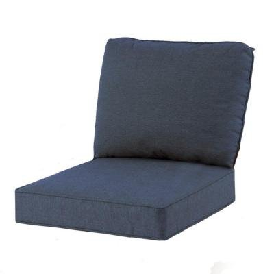 Hampton Bay Spring Haven Club Chair Blue Seat and Back Cushion (Hampton Bay Cushions)