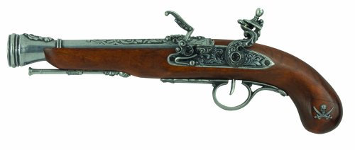 Denix Left Handed Pirate Flintlock Blunderbuss Pistol, Antique - Rifle Pirate
