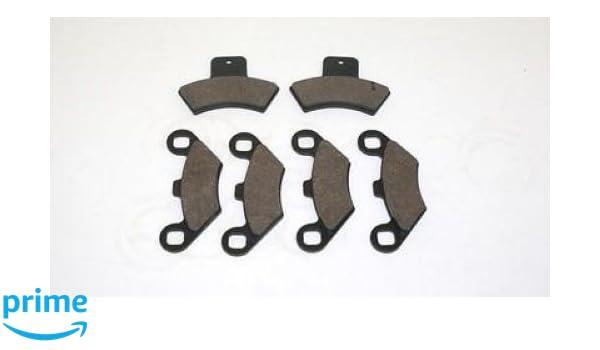 Polaris 400 Scrambler 4X4 Semi-Metallic Brake Pads Front Brakes fits 1998-2002