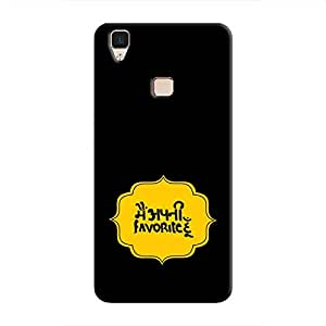 Cover It Up Mein Apni favourite hoon Hard Case For Vivo V3 - Black