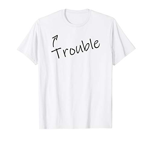 Trouble Funny Adult Humor Halloween Costume T shirt