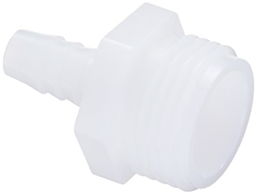 "Parker Hannifin 325GH-6-12N-pk10 Par-Barb Male Garden Hose Barb Fitting, Nylon, 3/8"" Hose Barb x 3/4"" Male NPT, White (Pack of 10)"