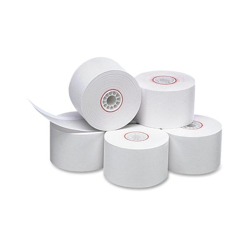 PM Company Cash Register/POS One Ply Bond Rolls, 1.75 Inch Width, 150 Foot Length, White, 10 per Pack (18990)